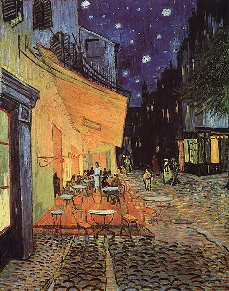 Cafe-Terrace-at-Night-by-Vincent-Van-Gogh